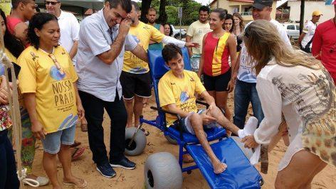 Aracruz implanta projeto de inclusão nas praias