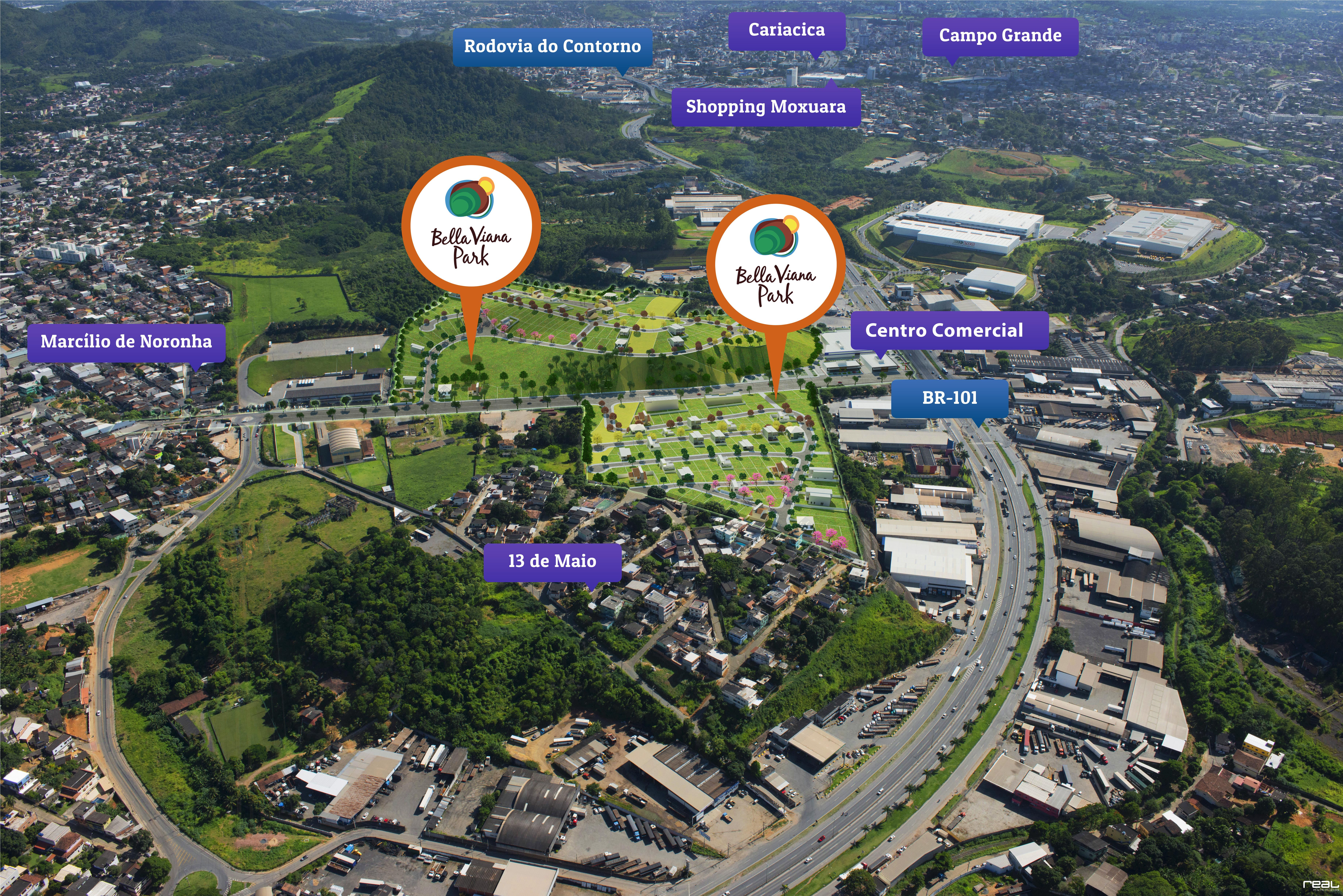 Mapa Bella Viana Park