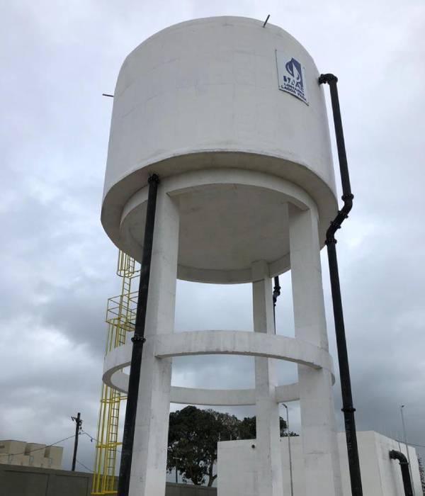 Sistema de Reservação de Água Tratada em Linhares